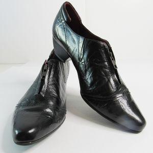 JOSEF SEIBEL Black Leather Low Top Booties Sz 9